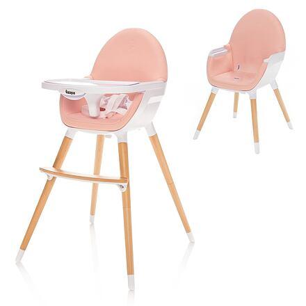 Zopa jídelní židlička Dolce Blush pink