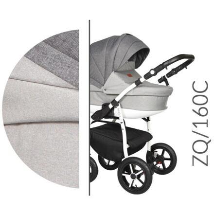 Levně Kočárek Baby Merc Zipy Q 2019 dvojkombinace bílý rám ZQ/160C