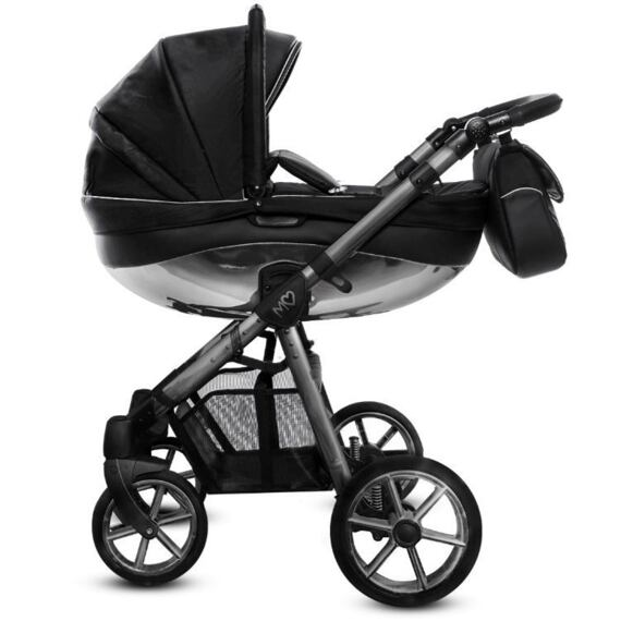 Kočárek Baby Active Mommy Glossy dvojkombinace Black/Space Gray