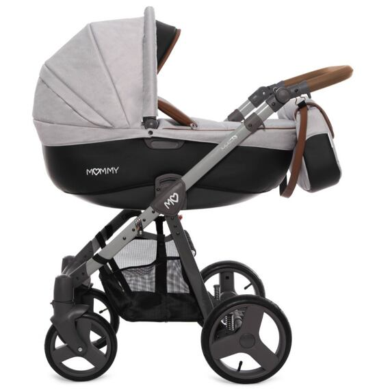 Kočárek Baby Active Mommy 2019 dvojkombinace Grey Star