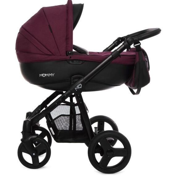 Kočárek Baby Active Mommy 2019 dvojkombinace Plum