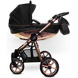 Kočárek Baby Active Mommy Glossy dvojkombinace Black/Rose Gold
