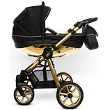 Kočárek Baby Active Mommy Glossy dvojkombinace Black/Gold